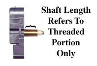 clock shaft length